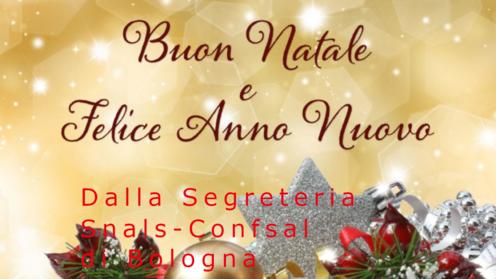 Auguri di Buon Natale e felice anno nuovo dal Sindacato Snals - Confsal di Bologna