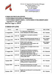 Corso di preparazione ai Concorsi