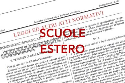 ESTERO: TRASFERIMENTI PERSONALE DELLA SCUOLA IN SERVIZIO ALL'ESTERO A.S. 2019/2020